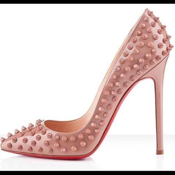 f143d6a9f6d Christian Louboutin Shoes - Red bottoms nude spiked heels